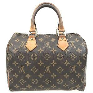 100% Authentic Louis Vuitton Monogram Speedy 25 Handbag M41528 [Used] {05-028B}