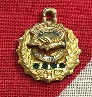 Vintage Pratt & Whitney 10K Gold 20 Year Service Pendant Charm Pin