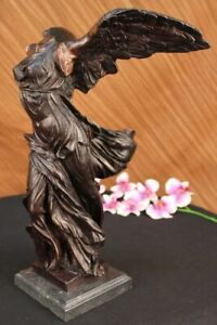 Winged Victory Nike Samothrace Louvre Museum Gift Bronze Marble Sculpture Decor