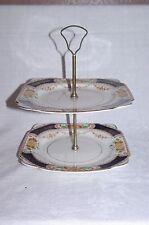 Vintage Coronation Ware Imari Art Nouveau 2 Tier Cake Stand
