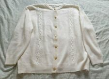 Berketex Cream Cardigan Womens Size 18-20 With Gold Button Ladies Vintage Look