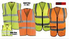 Blackrock Hi Vis Viz Vest High Visibility Safety Waistcoat Zipped Yellow Orange