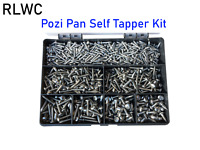 Stainless Steel Pozi Pan Head Self Tapping Screws Choice of Assorted Kit Qty.