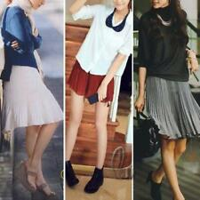 Regular Size Solid Mini Pleated Skirts for Women
