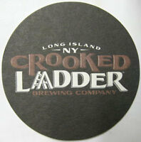 CROOKED LADDER BREWING CO. Beer COASTER, Mat, Long Island, NEW YORK 2014 issue
