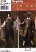 Simplicity Men's Reinassance Costume Pattern 4059 Size XS-XL UNCUT