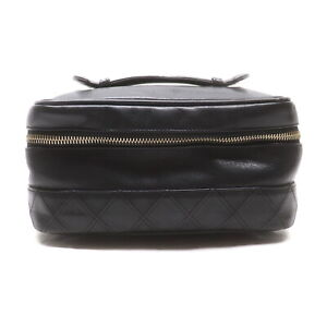 CHANEL Vanity Bag COCO Black Lamb Leather 2201649