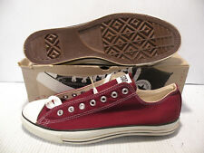 CONVERSE ALL STAR CT VINTAGE LOW MADE IN USA MEN SHOES MAROON X9691 SIZE 13 NEW