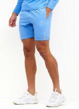 Gym King Mens Sport Contrast Texture Short-Marine Blue