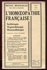 REVUE MENSUELLE L'HOMOEOPATHIE FRANçAISE N°1. Janvier 1972.