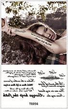 Love Temporary Tattoo Sticker DIY Keep 3-5 days Waterproof 9x17cm TE056