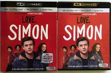LOVE SIMON 4K ULTRA HD BLU RAY 2 DISC SET + SLIPCOVER SLEEVE FREE WORLD SHIPPING