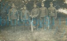 More details for ww1 brecknockshire battalion group photo with bicycle milford haven