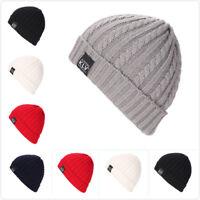 Fashion Winter Women Beanie Men Hat Unisex Knitting Warm Cap Woolen Hat WE
