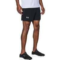 Under Armour Launch 2 in 1 Mens Running Shorts Black Built In Base Layer Short S