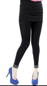 black footless tights with silver lurex trim bottom, from pamela mann (one sze)