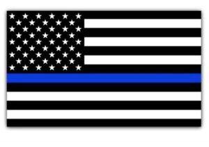 """Police Blue Lives Matter American Flag Car magnet 6""""x4"""" Sign"""