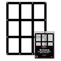 1 BCW 9 Card Black Border Screwdown Card Holder Display