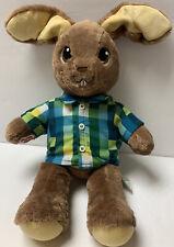 "Build A Bear Peter Rabbit 18"" Stuffed Plush Bunny Animal Plaid Shirt Rare"