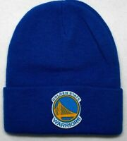 READ LISTING!Golden State Warriors HEAT Applied Flat Logo on Beanie Knit Cap hat