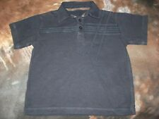Next Boys Navy Blue Patterned Polo Shirt Age 5 y/o