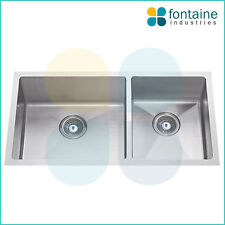 Kitchen Sink Square Undermount or Drop In Cube Modern Style Large Double Trough