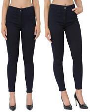 Womens Skinny Jeans Jeggings Trousers Navy & Black  Work Trousers Work Wear