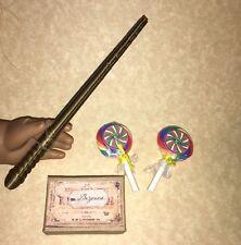 """CUSTOM AMERICAN GIRL SIZE WAND, LOLLIPOP & BEZOAR BOX 18"""" Doll Harry Potter Fans"""