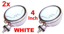 "2X 4"" WHITE Angeleye Halogen H3 Scooter Spotlights Spots Fog Light Car Van Bike"