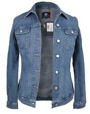 Bogner Ladies Jeans Jacket Size 36 Blue Brushed Stretch