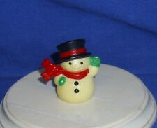 Hallmark Christmas Merry Miniatures Snowman 1983 Waving Scarf Used Yellowed