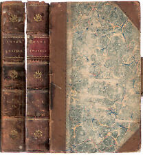 Travels or Observations of Barbary & The Levant by Shaw 4pts in 2 vols 1808 hdbk