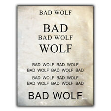 POLICE PHONE BOX BAD WOLF SIGN Vintage METAL Wall Sign Door Plaque poster print