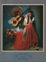 LINDA RONSTADT 1987 CANCIONES DEZ MI PADRE TOUR CONCERT PROGRAM BOOK / NM 2 MINT