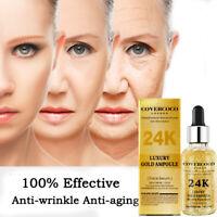 24K Gold Brightening Essence Liquid Moisturizing Skin Improve Skin Face Cream