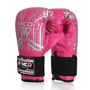 Womens Boxing Gloves Mitts Ladies Pink Training Punch Bag Fitness