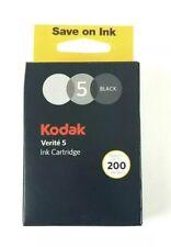 Genuine Kodak Verite 5 Black Standard Ink Cartridge NEW in Box Factory SEALED