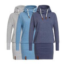 Women Hooded Hoodies Sweatshirt Long Sleeve Bodycon Tunic Dress Party Top Pro