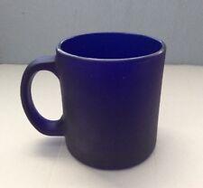 Vtg Cobalt Blue Glass UCLA Heavyweight Coffee Mug Cup Made in USA