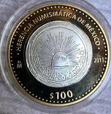 2011 MEXICO $100 PESOS 8 REALES  1824 Do    HERENCIA NUMISMATICA  PROOf
