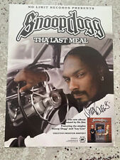 Snoop Dogg Signed The Last Meal 18x24 Album Promo Poster