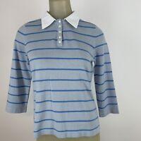 Talbots Women's cashmere sweater size small petite blue striped