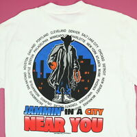 Vtg NOS Jam Posse World Tour T-Shirt LARGE Cowboy Basketball 90s NWOT Deadstock