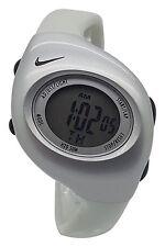 New Nike Kids Triax Junior WR0017 Vivid Grey Silver Digital Sports 38mm Watch
