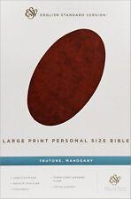 ESV Large Print Personal Size Bible (TruTone, Mahogany, Imitation Leather)...NEW