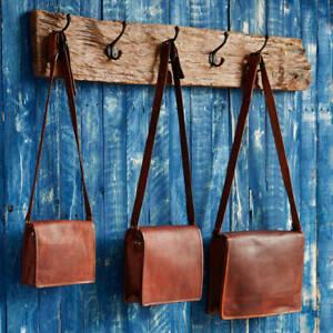 Women Genuine Vintage Smoth Leather Messenger Bag Shoulder Laptop Bag Briefcase#