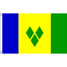 Saint Vincent Flag 5Ft X 3Ft Caribbean Grenadines Banner With 2 Eyelets New