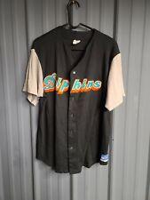 Vintage Miami Dolphins Throwback Baseball Jersey Size Men's XL Football Fins
