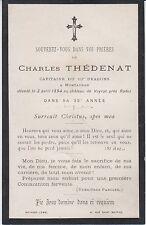 1894 Memento capitaine Charles THÉDENAT, château de Veyrac, Luc (Aveyron) Rodez