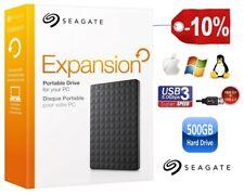 """Disque dur externe portable Seagate 500 Go 2.5"""" Usb 3.0 Et Usb 2.0"""